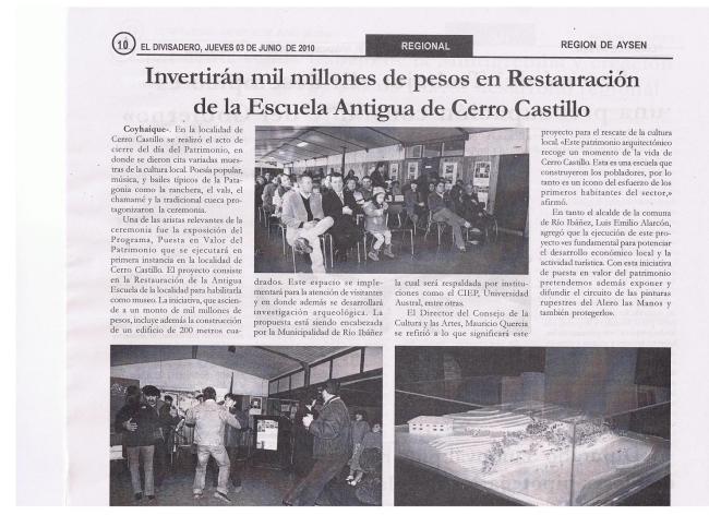 Noticia Ejecución de Obras de Restauración Escuela Antigua
